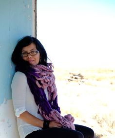 Big Stitch Scarves by Yospun. Handspun Textiles and Knit goods, all designs by Matney Warner.