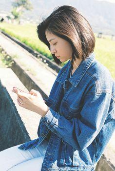 Manyunyu7 Japan Fashion, Love Fashion, Korean Fashion, Girl Fashion, Short Hair Outfits, Girl Short Hair, Cute Girls, Cool Girl, Poses Photo