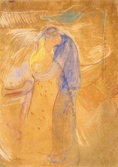 Edvard Munch - Kiss 1906-1907 Stenersenmuseet - Oslo (Norway) Painting