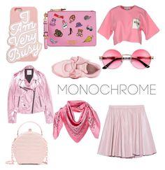 """monochrome"" by geopaganeli on Polyvore featuring Moschino, MANGO, 2NDDAY, Puma, Nancy Gonzalez, ban.do and MCM"