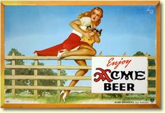 Promo for Acme Beer by  pin-up legend Alberto Vargas