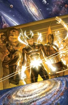 Guardians 3000 #6 by Alex Ross  Hey marvel bring back The original guardians of the galaxy please!