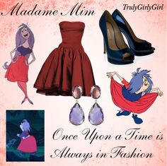"""""""Disney Style: Madame Mim"""" by trulygirlygirl ❤ liked on Polyvore"""