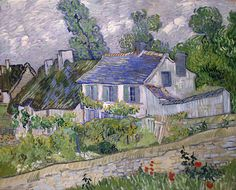 Houses in Auvers, 1890, Vincent van Gogh