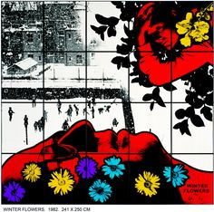 bigandstrong: Gilbert and George - Winter Flowers, 1982 Damien Hirst, Art Photography, Psychedelic, Contemporary Artists, Painting, Big Art, Art, Street Art, Pop Art