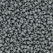 Size 11 Matte Opaque Gray Delica Beads - DB0761