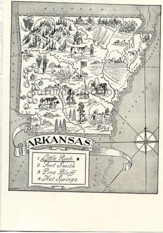 Arkansas Map   A Delightfully Amusing ORIGINAL by SaturatedColor Stinkin' LOVE this.