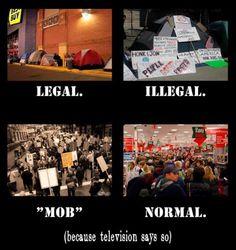 Black Friday versus Occupy....hmmm