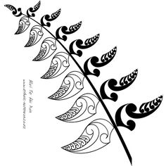 Maori pattern of a silver fern.   Could work nicely as a glass partition marker.