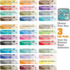 Distress Oxide Ink Pads Stamp Choose Your Own Colours