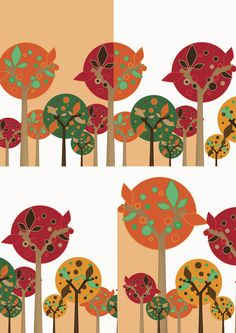 Helsinki is grey as hell. Autumn Trees, Helsinki, Geometric Shapes, Grey, Illustration, Design, Home Decor, Fall Trees, Gray