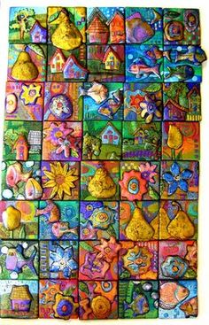 polymer clay tile techniques - Google Search