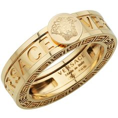 Great stuff:) Medusa head gold ring by Versace