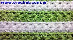 Punto fantasía N° 11 en tejido crochet tutorial paso a paso.