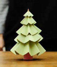 ARTESANATO FOFO: Mini Arvore de natal de papel
