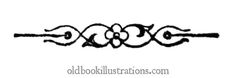 Text separator with floral design at the center.