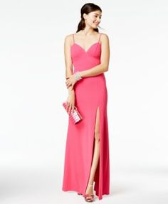 B Darlin Juniors' Slip Gown, A Macy's Exclusive Style