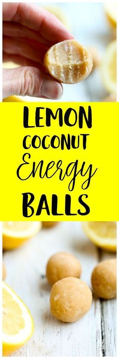 These Lemon Coconut Energy Balls are low sugar, low carb, high protein, and made with nutritious ingredients. The whole family loves this healthy gluten-free and vegan snack recipe! via Flaherty (Low Carb High Protein Prep)