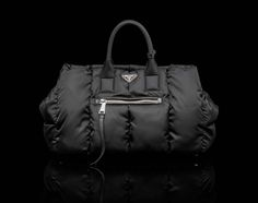 Prada Bomber Fabric Double Handle Tote d0ab7f7be0ccf