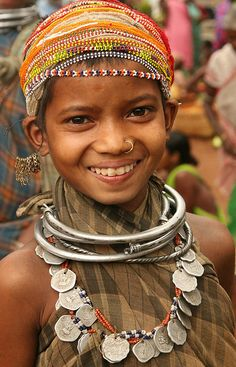 India | Bonda girl at Mundiguda market. Oissa | © Walter Callens