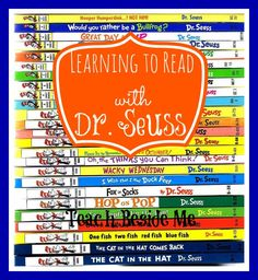 Learning to Read with Dr. Seuss | reading levels of different Dr. Suess books