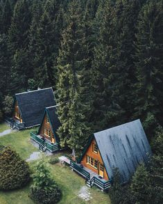 Photo by I feel like I should share more cabins, I miss cabin posts. This year's just been landscapes it seems! Share your story:… Tiny House Cabin, Cabin Homes, My House, Tiny Homes, A Frame House Plans, A Frame Cabin, Next Door Neighbor, Cabin In The Woods, Forest House