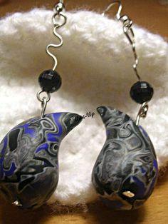 FANTASY DROPS :  orecchini fatti a mano in argilla polimerica (FIMO) - hand made polymer clay earrings