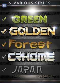 Check out 5 Various PS Styles Font Part by dian_dhanny on Creative Market