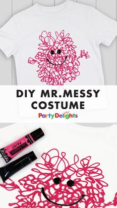 Looking for DIY World Book Day costume ideas? Have a go at making this DIY Mr Messy costume - it's SO easy to do and you can make it using an old white t-shirt that you already have at home. And remember, World Book Day 2018 is on Thursday 1st March so there's not much time left to plan your child's costume!