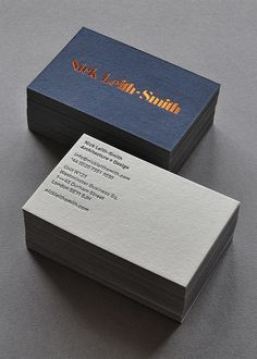 Brand identity and business cards for Nick Leith-Smith Architecture + Design designed by Tim George