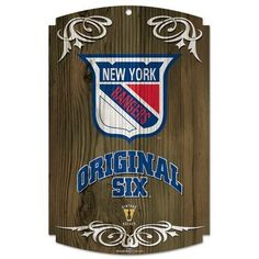 NHL New York Rangers 11-By-17-Inch Original Six Wood Sign by WinCraft. $19.99. Hardboard wood signs are 1/4 Inch thick, decorated with quality graphics to resemble an antique wood finish. A matte finish laminate top is added for greater durability and a precision cut smooth edge makes this a great indoor decor sign. Made in USA