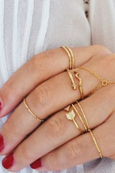 Gold Simple Hammered Knuckle Ring | STYLEADDICT.COM.AU | Keep.com