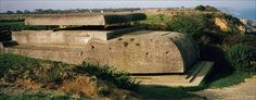 """Normandy 1944 - Longues Battery    Sited above Longues-sur-Mer (near Arromanches - see bleow) this is the observation and commnd bunker on the cliff-edge. Actually used in the filming of """"The Longest Day""""."""