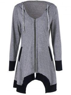 GET $50 NOW   Join RoseGal: Get YOUR $50 NOW!http://www.rosegal.com/t-shirts/zipper-up-asymmetrical-hooded-tee-873699.html?seid=948764rg873699
