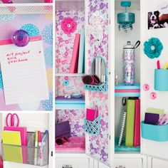 Create your back to school locker look with our fabulous Lockers collection of products that make your first day fresh and stylish! Middle School Lockers, Middle School Hacks, Back To School, School Stuff, Cool School Supplies, College School Supplies, College Planner, College Tips, Weekly Planner