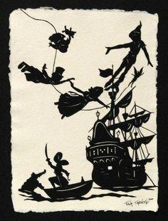 Peter Pan / Peter Pan Original Papercut Art by tinatarnoff on Etsy