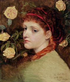 Emma Sandys (English, 1843-1877). Study of a Head, 1877