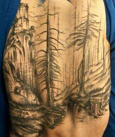 aa7bbd4da94d6 the-starlight-hotel: forest scene by sven at scratcher's paradise tattoo  Love Tattoos