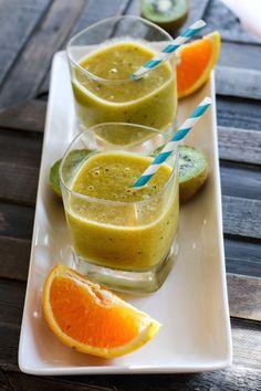 Homemade Orange Kiwi Citrus Slushy