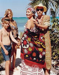 At Keef's Parrot Cay estate. Man in caftan. Repeat: Man in Caftan! Swoon.