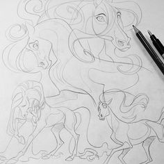 Horsin' around  #art #artwork #artstagram #artist #arty #vixiearts #draw #draws #drawing #traditionalart #2d #horse #sketch #sketches #illustration