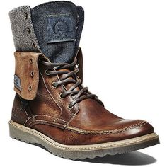 Steve Madden Women's Keel Boots and other apparel, accessories and trends. Browse and shop 2 related looks. Leather Men, Leather Shoes, Black Leather, Dress With Boots, Dress Shoes, Over Boots, Cool Boots, Men's Boots, Mens Boots Fashion