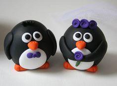 Round Wedding Penguins