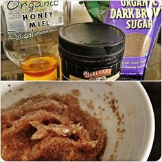 DIY Sugar Lip Scrub: perfect for dry lips  1 tablespoon coconut oil 1 tablespoon honey 2 teaspoons brown sugar