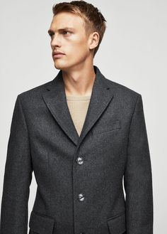 Manteau classique laine