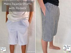 Free pattern: Men's pajama shorts for Father's Day