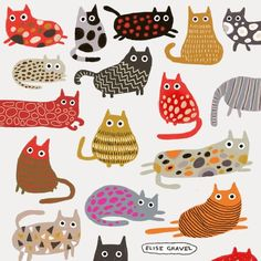 you had your daily dose of kitties yet? , : Have you had your daily dose of kitties yet? , Have you had your daily dose of kitties yet? , : Have you had your daily dose of kitties yet? Pattern Illustration, Children's Book Illustration, Cat Illustrations, Motifs Textiles, Frida Art, Watercolor Pattern, Cat Drawing, Cat Art, Art For Kids