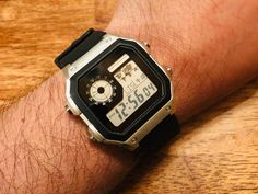 """[Casio] """"Royale"""" - Lettering & Hydro Mod with Black Strap High End Watches, Old Watches, Pocket Watches, Wrist Watches, Casio Vintage Watch, Vintage Watches, Casio Watch, Authentic Watches, Accessories"""