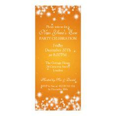 orange elegant invitation - Google Search