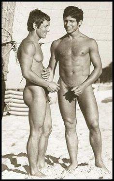 Vintage nude men on the beach pic